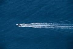 Widoku żeglowania łódź Obraz Royalty Free