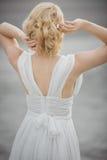 Widoku bridal włosiany styl Obrazy Stock
