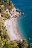 Widoku jeden plaża Obraz Royalty Free