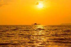 Widoku kelong w morzu Fotografia Royalty Free