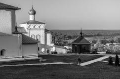 Widoku Nicolo trójcy monaster Gorokhovets Vladimir region Końcówka Wrzesień 2015 Fotografia Royalty Free