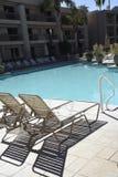 Widoku poolside Zdjęcie Royalty Free