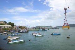 Widoku port morski Nha Trang miasto Wietnam Obraz Royalty Free