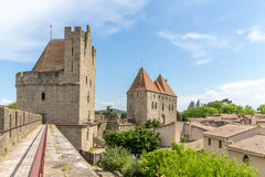 Widoku punkt kasztel Carcassonne, Languedoc Roussillon Obraz Royalty Free