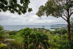 Widoku punkt Kat Noi, Karon plaża i Karon, Wyrzucać na brzeg Tajlandia, P Obraz Royalty Free