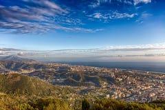 Widoku punkt miasto od góry, miasta Genoa/Włochy/ zdjęcie stock