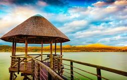 Widoku punkt na jeziorze w Południowa Afryka Obrazy Stock