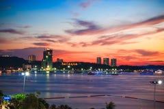 Widoku punkt Pattaya miasto w Tajlandia Obraz Stock