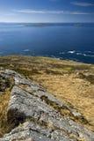 Widoku wzgórza wierzchołek, wyspa Harris, Zewnętrzny Hebrides, Szkocja Obraz Stock
