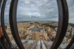 Widoku z lotu ptaka St Peter kwadrata piazza San Pietro obrazy stock