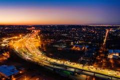 Widoku z lotu ptaka Staten Island autostrada obrazy royalty free