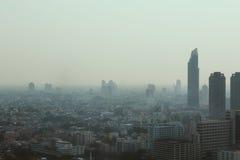 Widoku zanieczyszczenie w mieście Obraz Stock