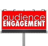 Widowni Engagment billboardu klientów Reklamowy zasięg ilustracji