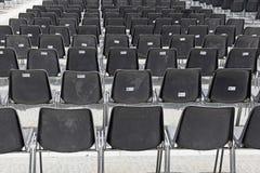 Widowni krzesła Zdjęcia Royalty Free