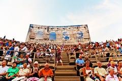 Widownia w aren di Verona, Włochy Zdjęcia Stock