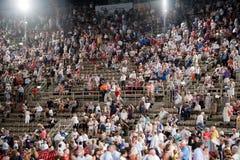 Widownia Włochy w Verona arenie, (areny di Verona) Obraz Stock