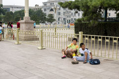 Widows and orphans in the streets of Beijing Stock Photography