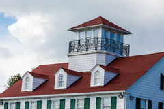 Widows Walk Over Red Roof Royalty Free Stock Photos
