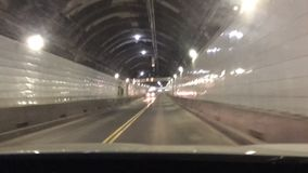 Widsor ontario to Detroit USA Tunnel stock footage