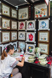 Width alley shops in chengdu Stock Photos