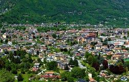 Widzieć od Świętej góry Kalwaryjskiej Domodossola zdjęcie stock