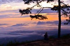 Widzieć wschód słońca Obraz Royalty Free