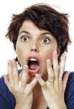 widzii kobietę niespodziewana kobieta Obraz Stock