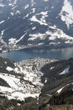widzisz narciarskiego austrii do ośrodka zell Zdjęcie Royalty Free