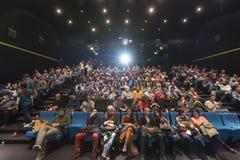 Widzowie ogląda w kinie fotografia royalty free