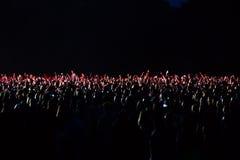 Widzowie przy koncertem przy nocą Obraz Royalty Free