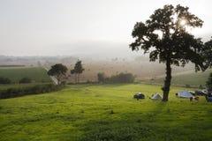 wieś campingowa Zdjęcia Stock
