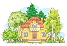 Wieś dom ilustracji
