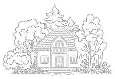 Wieś dom royalty ilustracja