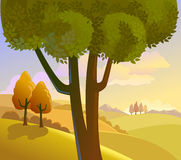 wieś krajobraz Obraz Royalty Free