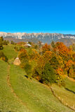 Wieś krajobraz w romanian villlage Obraz Stock