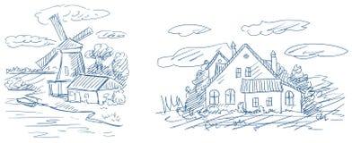wieś krajobrazy Zdjęcie Stock