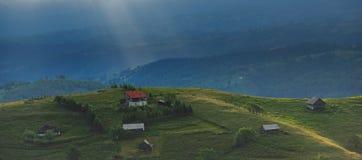 wieś otrębiasty krajobraz Zdjęcie Royalty Free