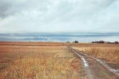 Wieś przy autmn Obrazy Royalty Free