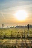 Wieś przy wschodem słońca Fotografia Royalty Free