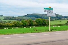 Wieś w Morvan górach zdjęcie royalty free