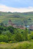 Wieś wokoło Buzd Fortyfikował kościół, Rumunia obrazy stock
