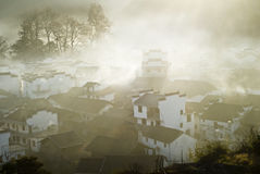 Wieś wschód słońca Obraz Royalty Free