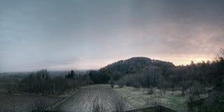 wieś wschód słońca Zdjęcie Royalty Free