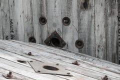 Wieśniak wietrzejący stajni drewna tło Zdjęcie Royalty Free