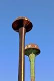 Ośniedziałe wieże ciśnień Obraz Royalty Free