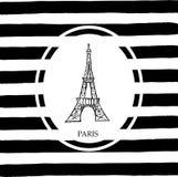 wieża eiffel Paryża ilustracja wektor