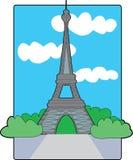 wieża eiffla royalty ilustracja