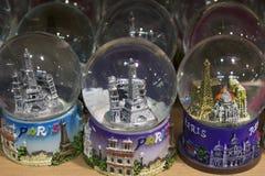 Wieża Eifla śniegu kule ziemskie Obraz Royalty Free