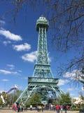 Wieża Eifla przy królewiątko wyspą zdjęcie stock