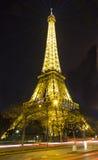 Wieża Eifla przy nocą, Paryż, Francja Obrazy Stock